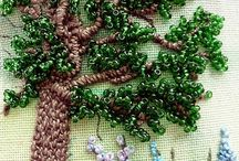 Mixed bag embroidery beads ribbon flowers