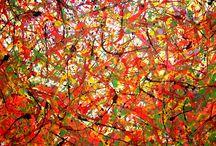 Constantinescu Nicu Gabriel / Picturi abstracte moderne 100x200 acril pe panza!