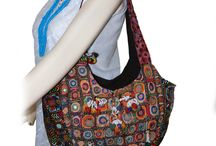 BOHEMIAN HANDBAGS | ETHNIC INDIAN SHOULDER BAGS BOHO HIPPIE SHOULDER BAGS www.artingle.com / TRIBAL VINTAGE BANJARA HANDBAGS Vintage tribal banjara fabric recycled and patched up with cross stitches and embellishments designer Banjara handbags, Trendy glamorous and spacious Banjara Handbags collection features tribal ethnic bags with embroidery Decor with tassels, pom-pom and coin