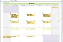 Year 2016 Calendar - Excel Spreadsheet Templates / Excel calendar templates spreadsheets for calendar year 2016 including yearly calendar and monthly calendars.  Digital download.