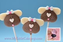 Puppy Love / Cute puppy dog cake pops made with our heart shaped cake pop mold.