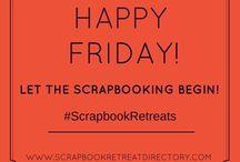 Scrapbook Retreat Inspiration / Find Scrapbooking Retreats at http://www.ScrapbookRetreatDirectory.com