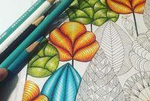 Раскраски-Антистресс / Работы из разных раскрасок. В дальнейшем буду рассортировывать