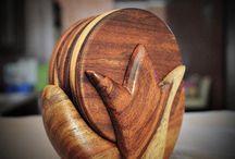 Handmade Wooden Coasters from Omar Handmade