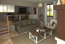 Idées d'ambiance déco pour la maison / Idées décoration pour salon, salle à manger, cuisine, salle de bain, chambre, couloir, WC.