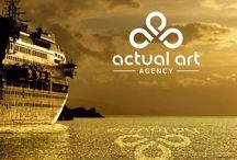 Actual Art Agency / Nagyon friss, nagyon lendületes! Ezek az érzések fogalmazódtak meg bennünk, mikor elkezdünk foglalkozni az Actual Art Agency-vel. Nagyon egyszerű dolgunk volt. Szárnyalhattunk, ötletelhettünk, kívánták és szerették az újat. Emblémájuk re-branding-je tulajdonképpen már a megbeszélés alatt kirajzolódott előttünk. Könnyű kreatív emberek között gondolkozni. Egyszerűen haladt a munka. Nézzétek meg mely produkciók készültek el számukra.