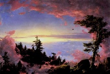 Frederic Edwin Church  / known for injecting a spiritual dimension into his paintings, was among the group of landscape painters who comprised the Hudson River Valley School of paintings. / by Celestial Elf