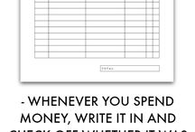 PRINTABLES - Expense tracker