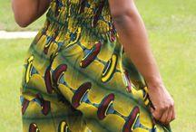 Telas y color de África