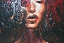 Portrait oil painting Draw