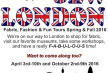 HotPatterns SewLondon tours 2016 / ...come to London with us, we'll be there in April & October 2016 for a week of fabric. fashion & fun...