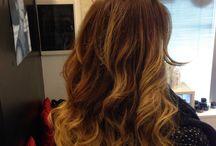 Hairstyle / Shatush hair bob blond