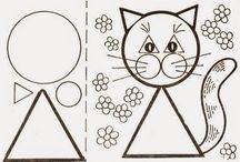 animais formas geométricas