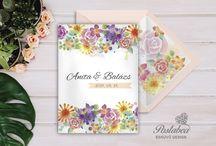 Bélelt borítékos meghívók- Wedding Invitation with envelope