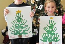 xmas tree handprints