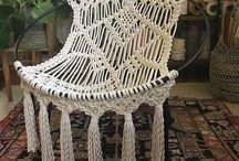 sillón redondo macrame