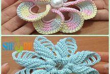 3d crocheted flowers