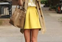 Jaune / Le jaune est la couleur incontournable de l'été: Ambre, canari, paille, toutes les nuances de jaune sont sur Monshowroom.com Faite votre shopping sur Monshowroom.com  / by MonShowroom.com ♥