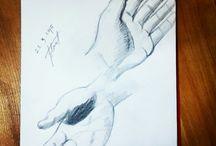 Çizimlerim- my drawing- charcoal