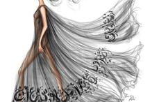 Ilustration + calligraphy