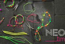 ♥ ℕℯℴℕ  ♥ / Vi elsker farver! Masser af ideer til at sætte ekstra farve på dine næste hobbyprojekter.
