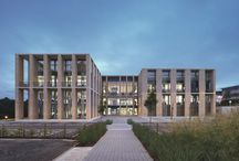 Office Spaces / Interesting office exteriors/interiors, to one day meld into a super campus