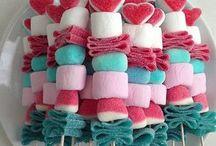 Brochettes de bonbons