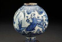 Safavid fritware globular vase Iran, First half of the 17th century