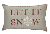 Let It Snow! / skiing ornaments, snow board favorites, snowflakes, snow theme pillows and tabletop