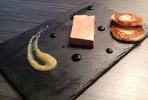 Foie gras de canard / Foie gras de canard, compoté de pomme et toasts briochés