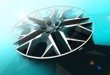 ŠKODA Alloy wheel / Sketch of a ŠKODA AUTO alloy wheel proposal | Skica návrhu kola z lehkých slitin pro ŠKODA AUTO