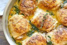 poulet, boeuf