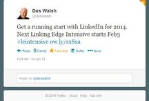 LinkedIn / All things LinkedIn / by Des Walsh