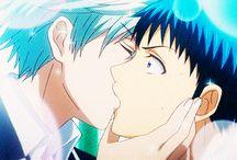Yamada und Toranosuke kiss
