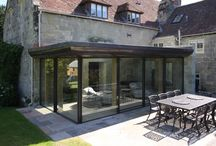 Opening Corners / Sliding Glass Doors and Bi Fold doors sliding away from a corner junction leaving no left over post. Great for an indoor-outdoor effect
