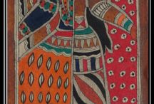 Madhubani Art / Madhubani art is practiced in the Mithila region of India and Nepal. Painting is done with fingers, twigs, brushes, nib-pens, and matchsticks, using natural dyes and pigments, and is characterized by eye-catching geometrical patterns. There is ritual content for particular occasions, such as birth or marriage, and festivals, such as Holi, Surya Shasti, Kali Puja, Upanayana, Durga Puja.