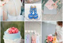 powder blue and pink wedding