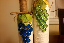 Wine bottles decoration / I