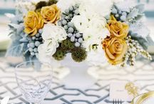 Stefany + Rikki | Inspiration / This Jersey couple's day will be everything chic yet classic mixing gray, mustard, navy, and white.