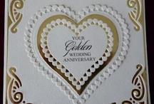 golden wedding cards