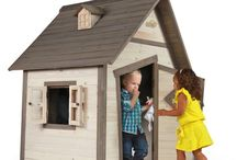 Children Wooden Playhouse Play House Kids Outdoor Garden Furniture Home Game Toy
