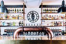 The White Lion Bar & Restaurant / The White Lion | Bar & Restaurant | Bristol | Clifton Suspension Bridge | Avon Gorge Hotel | Malmaison Hotel du Vin | Dexter Moren Associates | interior redesign | interior refurbishment | industrial history | Grade II listed building | mechanical materials | brass topped bar | soft lighting |