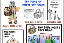 Moses Crafts and Bible Games / Crafts and Games Relating to the Bible Story of Moses