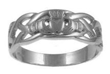 Sterling Silver Claddagh Rings / Sterling silver claddagh rings all symbolizing friendship, love, and loyalty.