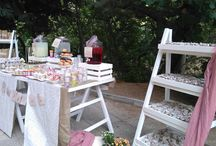 Candy bar & Διακόσμηση Βάπτισης Vintage little flowers