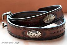 Leather Belts / handmade leather belts