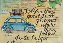 *Ruth--Bible Journaling by Book / Bible Journaling examples from the book of Ruth