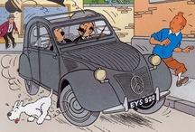 "Voiture Tintin "" Dessins "" / Véhicules des livres Tintin."