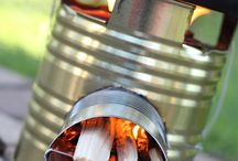 Home made Rocket Stove / Home made rocket stoves are one interesting source for alternative heat as well as cooking.