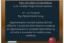 School: AFNORTH MS / HS / We will pin information pertaining to the AFNORTH International School US Middle / High School section here.